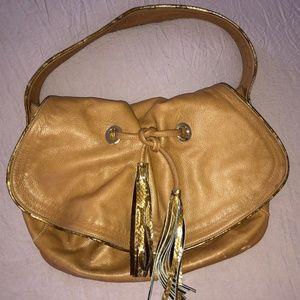 Zina Eva Bags - Zina Eva, Butter-soft, real-leather shoulder bag.
